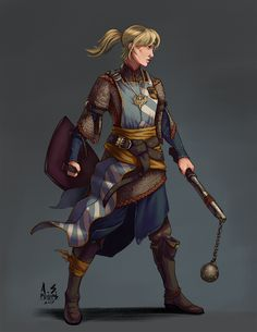 [RF] Rhian, young Cleric for /u/Dr_Thorne! : characterdrawing