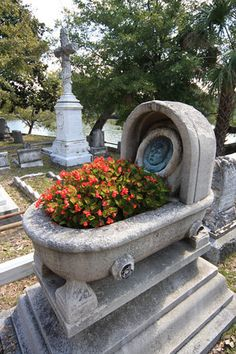 baby bassinet monument in Magnolia Cemetery , Meeting St., Charleston, S. Cemetery Angels, Cemetery Statues, Cemetery Headstones, Old Cemeteries, Cemetery Art, Angel Statues, Graveyards, 17th Century Art, After Life