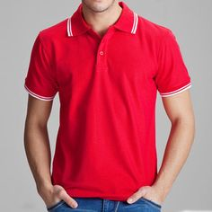 Brand Clothing Polo Shirt Solid Casual Polo Homme For Men Tee Shirt Tops High Quality. Tops Type: PolosGender: MenPattern Type: SolidStyle: CasualType: RegularMaterial: CottonSleeve Length(cm): ShortFeature: BreathableColor Style: SolidCollar: LapelHooded: NoSize (Men's): SS S M L XL XXL XXXLColors: Multi-ColorCustomized: YesPolo Tee: YesItem Number: 102TCGStyle: Casualcustomization: yesCotton Content: 65%