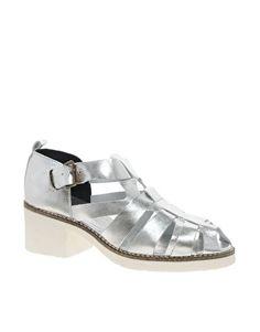 Image 1 ofSwear Chiara 5 Silver Heeled Gladiator Sandals