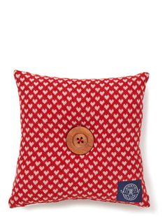 Kirsty Allsopp Knitted Hearts Cushion - cushions  - For The Home