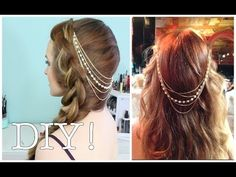 DIY Hair Chain! This is perfect for spring and summer. It'd totally work for music festival season too :D