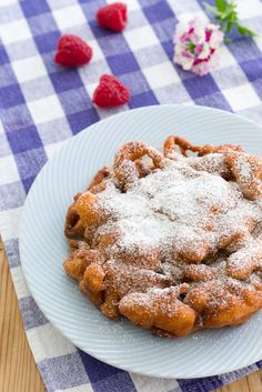 Need a quick fried dough fix? This funnel cake is light and crispy on the outside and soft and pleasantly chewy on the inside. Dusted in a generous coating of cinnamon and sugar, I've mashed up two of my favorite county fair foods over at PBS Food, hit the link below for my full post and recipe.