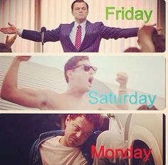 Story if the weekend. Leo. Wolf of Wall Street. Hangover humour