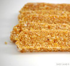 apricot almond coconut snack bars   Daisy Janie
