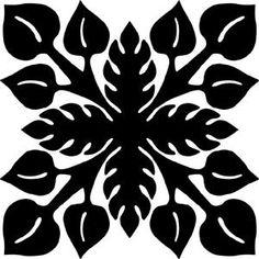 A Hawaiian quilt