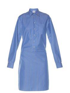 Striped wrap-detail cotton shirtdress | Vetements | MATCHESFASHION.COM