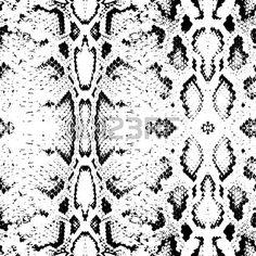 Змея текстуру кожи. Бесшовные черный на белом фоне. Векторная иллюстрация Фото со стока - 42465060