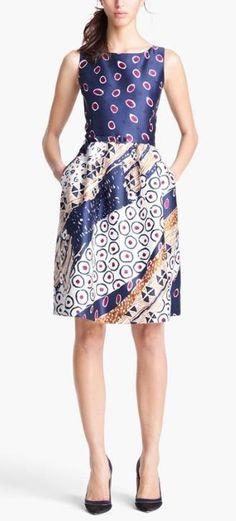 Beautiful, Oscar de la Renta Print Dress