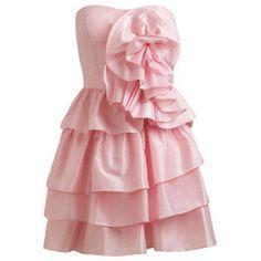 Taffeta Rose Front Tube Dress featuring polyvore fashion clothing dresses vestidos pink vestiti arden b dresses arden b. red cocktail dress red rose dress rosette dress