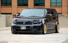 Black and yellow box. ForjWorks Scion XB bB Air Ride.