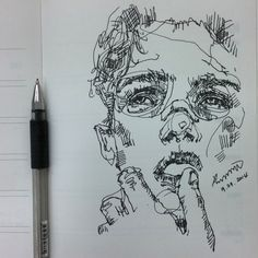 This continuous line drawing is a favourite of mine dues to its realistic feel. With just using a line it looks human. The mark making instead of shading shows the harsh shadows and leaves more highlight than normal shading. This piece can be considered as messy and chaotic, but this messy chaos reflects the human condition vividly.