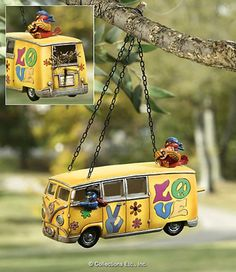Perfect for my friend Stacey C!                                 Hippie Love Bus Hanging Decorative Birdhouse