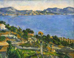O Golfo de Marselha visto de L'Estaque ou L'Estaque (1878 e 1879) Paul Cézanne - Museu d'Orsay, Paris  Provençal de nascimento, Cézanne permaneceu profundamente ligado à sua região natal e desenha alguns temas recorrentes e emblemáticos de sua obra.   Os dois mais importantes são a montanha Sainte-Victoire e o Golfo do Estaque, que o artista conhecia desde a infância.   Lá ele pintou sua primeira marinha em 1876 realizada no final da década de 1870, aquarelas e pinturas representando uma…