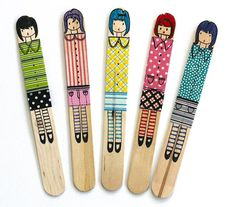 Craft stick dolls - #diy