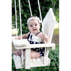 HammMade Wooden Baby Swing
