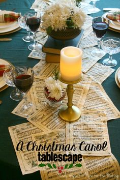 A Christmas Carol Tablescape - Mine for the Making
