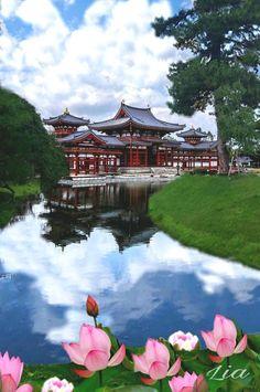 Templo Byodo-in Uji una maravilla de la arquitectura japonesa patrimonio histórico de la Humanidad se fundó en 1052, esta a las afueras de Kioto Japón me enamora