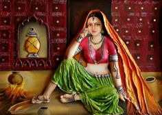 Mural Painting, Mural Art, Woman Painting, Acrylic Paintings, Wall Murals, Composition Painting, Texture Painting, Rajasthani Painting, Clay Wall Art