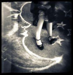 Items similar to Dancing on the Moon - Chalk Dreams photo/drawing series by Laura Burlton on Etsy Sun Moon Stars, Sun And Stars, Luna Lovegood, Moon Dance, Look At The Moon, Moon Shadow, Holga, Paper Moon, Good Night Moon