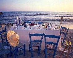 Tavola in riva al mare - Decorazioni e idee per la casa fai da te ispirate al mare e alla spiaggia