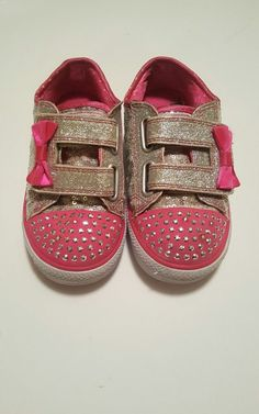 good condition. still have a lot of life but you decide.<br/><br/>▪decent condition ▪no major flaws ▪Sketchers Twinkle Toes ▪size 9 ▪lights up ▪sequins, glitter, and bedazzled ▪velcro straps ▪pretty clean These sneakers were my daughters favorite [5 years old] but she only wore them on weekends because of school uniform policy. So they didn't get A LOT of us...