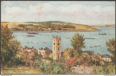Harbour from the Terraces, Falmouth, Cornwall, c.1920s - Salmon Postcard
