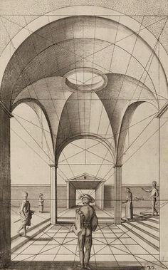 """magictransistor: """" Henricus Hondius. Perspectief Studie. 1615. """""""