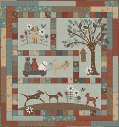 Quilt Kit TOP: A Dog's Life by Lynnette Anderson
