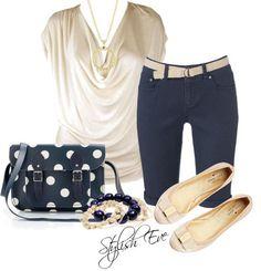 Love the polka dot purse :) Adds a nice pop.