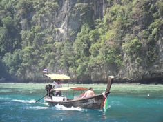 One of the most visited Islands off Thailand is Ko Phi Phi. It is made up of 6 other islands. You can travel here via boat from Phuket or Krabi from around 250-450 baht.