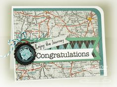 Cruisin' Congratulations card by Debbie Carriere - made this card as a retirement card for a lady who is going to be spending some of her new found free time on a motorcycle!!