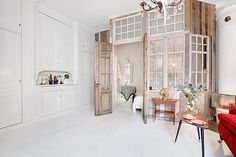 room within a room Arch Interior, Interior Walls, Interior Design, Tiny Spaces, Small Apartments, Living Room Inspiration, Interior Inspiration, Loft, Sweet Home