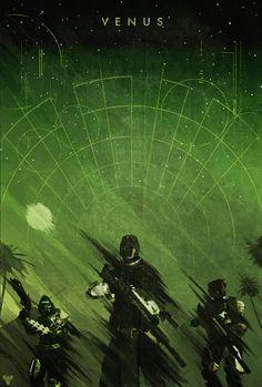 Destiny Planet Poster: Venus - Colin Morella
