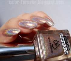 Paznokcie Golden Rose Holographic 02 Marriage ceremony Costume Designs: Relying on The place You Are Pretty Nail Colors, Pretty Nail Designs, Pretty Nails, Fun Nails, Latest Hair Color, Rose Nails, Holographic Nails, Nail Manicure, Nail Arts