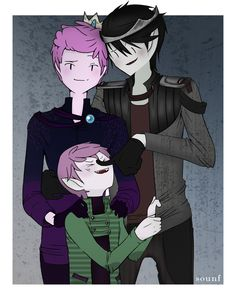 GumLee Family Portait by Sounf on DeviantArt | Marshall Lee x Prince Gumball | Adventure Time