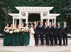 """Every wedding has its """"thing."""" You know - that one special detail that sort of steals the show. And for this William Aiken Housebeauty, it came in the form of an emerald green color palette. It's the force that drives the design"""
