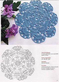 Ideas Mandalas para atrapasueños en crochet ⋆ Manualidades Y DIY Mandala Au Crochet, Crochet Circles, Crochet Doily Patterns, Crochet Diagram, Crochet Chart, Crochet Squares, Crochet Doilies, Crochet Flowers, Beau Crochet
