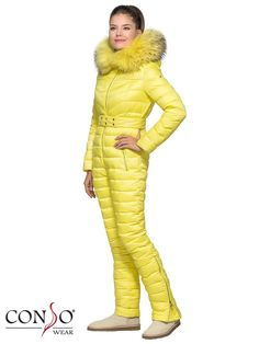 Зимний женский пуховой комбинезон CONSO WJF160550