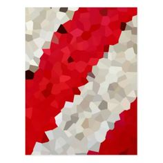 Holiday Red and White Candy Cane Mosaic Abstract Postcard - christmas cards merry xmas diy cyo greetings