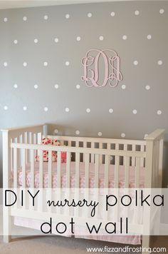 DIY Polka Dot Wall  #diy #polkadot #accentwall