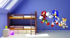 I like this wall color for Cooper's bedroom!  Sonic the Hedgehog Wall Stickers by Peelze Review