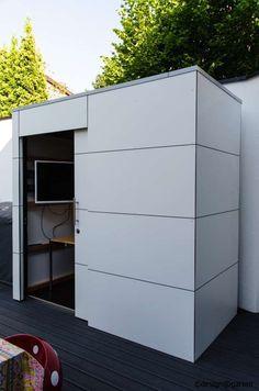 design #gartenhaus @gart_eins, by design@garten - Heilbronn, Germany #Gartenhaus #HPL #Gerätehaus
