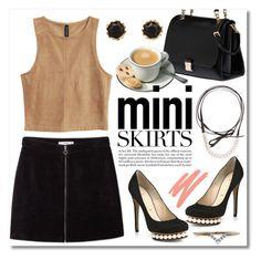 """Mini Me: Cute Skirts"" by miee0105 ❤ liked on Polyvore featuring Nicholas Kirkwood, MANGO, Miu Miu, Fallon, Sam Edelman, NARS Cosmetics and Diamonds Unleashed"