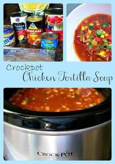 Crockpot Chicken Tortilla Soup is a wonderful dinner recipe that is so easy to make!