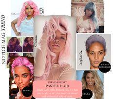 black women pastel hair