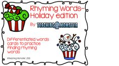 rhyming words--holiday edition $