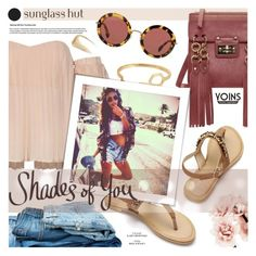 """""""Shades of You: Sunglass Hut Contest Entry"""" by fee4fashion ❤ liked on Polyvore featuring Miu Miu, Forever 21, Yves Saint Laurent, Summer, bohochic, sunglasshut, yoins and shadesofyou"""