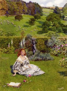 The Rose by Eleanor Fortescue-Brickdale (Eleanor Fortescue Brickdale), Watercolor and bodycolor over