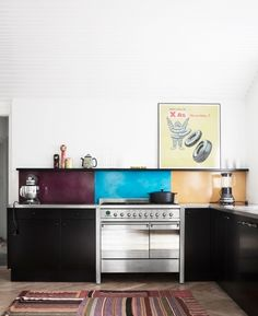 Colorblock in the Kitchen: Backsplashes from Copenhagen : Remodelista